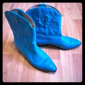 Genuine Leather Teal Brazilian Boots